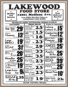 Free Collectible 1938 Food Store Ad With Art Buy